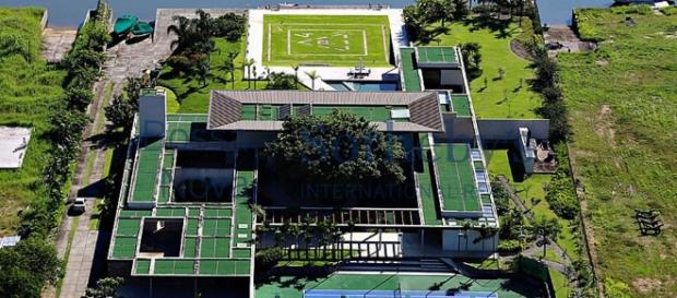Mansão de Neymar vista de cima