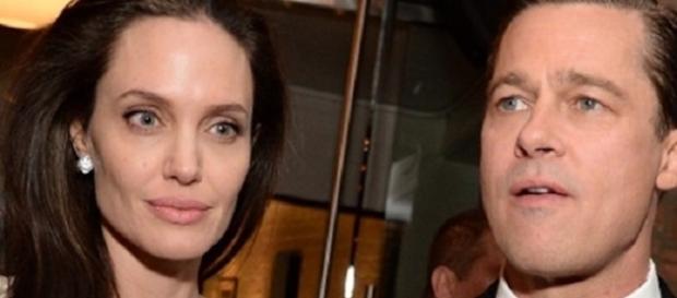 Nella foto: Angelina Jolie e Brad Pitt