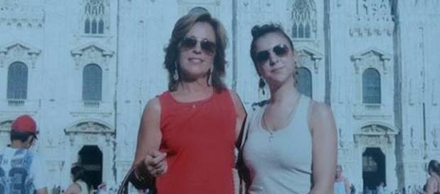 Rossella Tarantola con la figlia Margherita