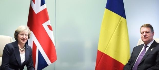 Theresa May- premierul Regatului Unit și Klaus Iohannis- președintele României