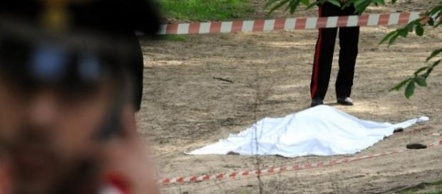 Il cadavere di Albano Crocco, ucciso e poi decapitato