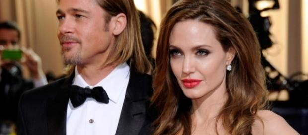 Brad Pitt e Angelina Jolie al tempo del loro matrimonio avvenuto nel 2014