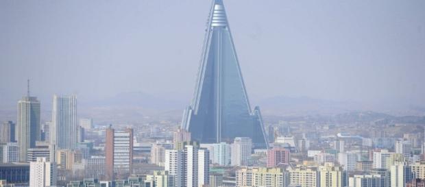 Cidade de Pyongyang na Coreia do Norte