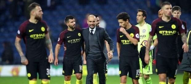 Guardiola não escondeu a felicidade, após a vitória dos citizens