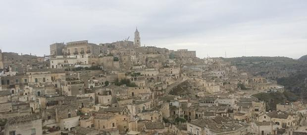 Matera, veduta panoramica dalla piazza sovrastante