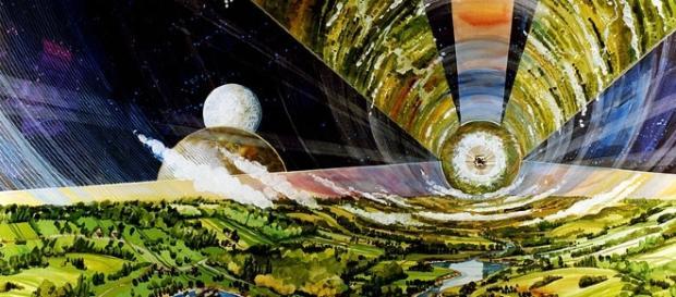 O'Neill Space Colony (Courtesy NASA)