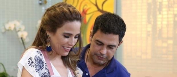 Zezé e Wanessa Camargo em participação no programa Estrelas