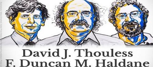 I vincitori del Premio Nobel 2016 per la Fisica.
