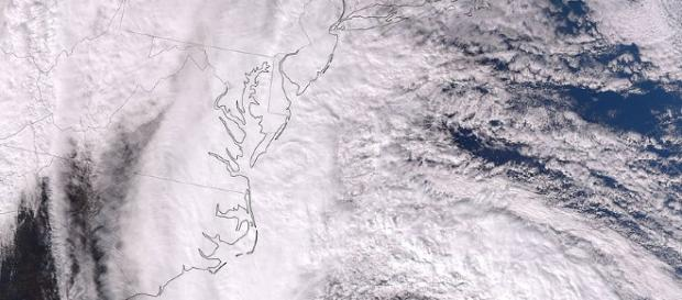 Das Auge des Wirbelsturms Sandy am 28. Oktober 2012 (gemeinfrei/Wikimedia)