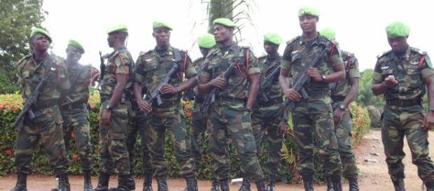 (File Photo) BIR Commandos in one of their camps in Campo, South Region of Cameroon (c) Amindeh Blaise Atabong