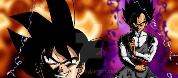 VEGETA Y BLACK GOKU DRAGON BALL SUPER