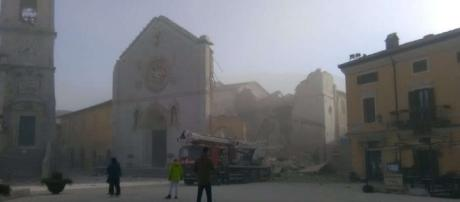 Norcia dopo il sisma di questa mattina