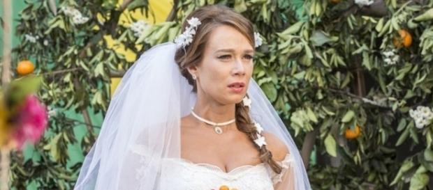 Imagem: Tancinha no dia que se casaria com Apolo