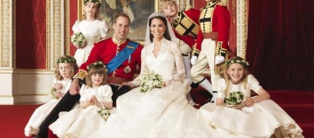 William e Kate nel giorno del loro matrimonio
