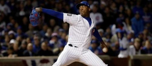 Chapman, Cubs stop Indians, cut World Series deficit to 3-2 ... - seattlepi.com