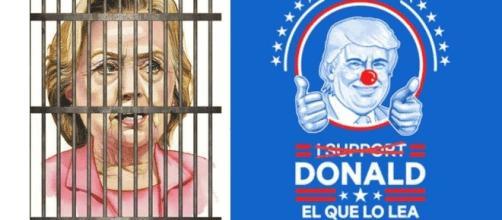 Depuis la lettre du FBI, les supporters de Trump vouent davantage Hillary Clinton à la prison, mais inversement, il passe pour un bouffon.