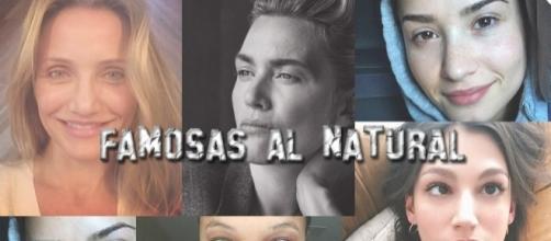 famosas al natural y sin maquillaje