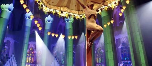 Imágenes de la Sagrada Familia en el videoclip de Mónica Naranjo.