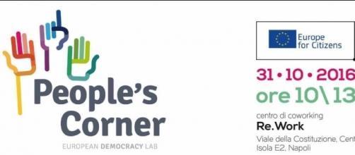 La locandina del progetto People's Corner