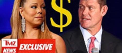 Source: TMZ youtube still: Mariah Carey, James Packer split may cost him $50 million