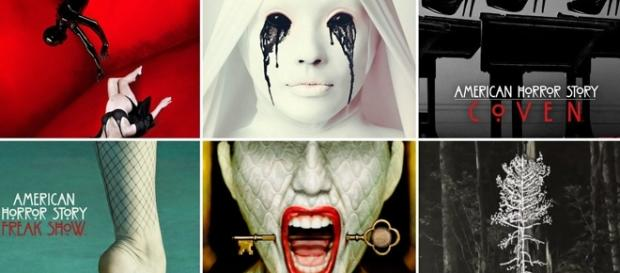 American Horror Story portadas de las 6 temporadas