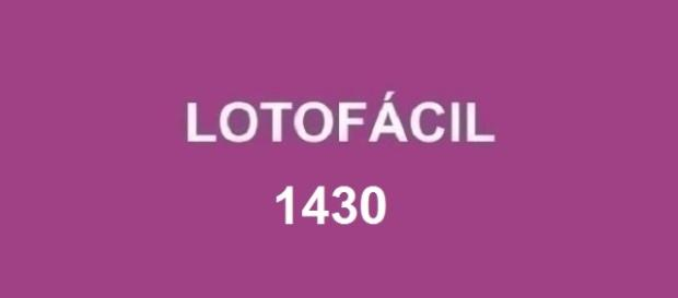 Sorteio do concurso Lotofácil 1430, desta segunda-feira