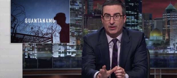 The issue of closing Gitmo hangs over President Obama / Photo via Youtube - Guantánamo: Last Week Tonight with John Oliver (HBO) - Lastweektonight