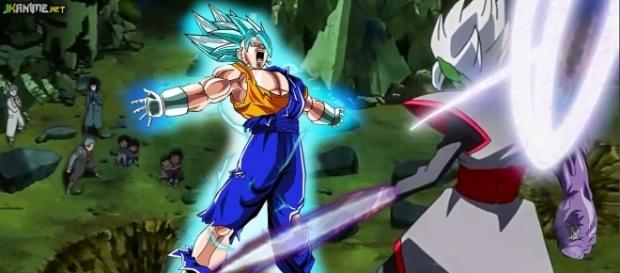Veggeto SSJ Dios Azul vs Zamasu