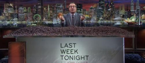 Oliver was busy raisin' some hell on this week's episode / Photo via Youtube - Scandals: Last Week Tonight with John Oliver (HBO) - Lastweektonight