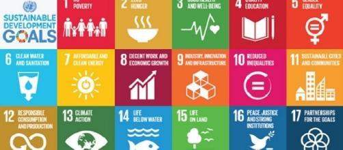 Sono 17 gli obiettivi di valore universale (Sustainable Development Goals; SDGs) che l'umanità dovrebbe raggiungere entro il 2030.