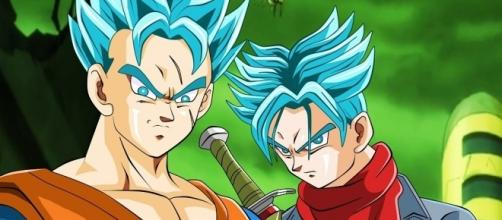 Trunks en su estado super sayayin dios Fant art