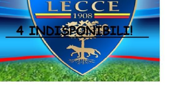 Ben 4 indisponibili per il Lecce nella sfida contro la Vibonese.