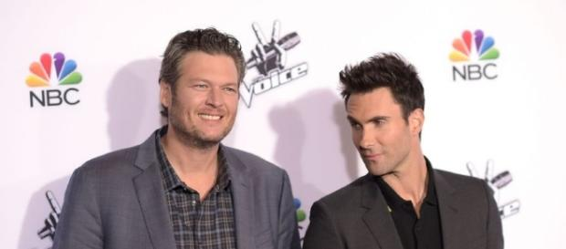 "Blake Shelton and Adam Levine ""The Voice""/ photo via Creative Commons, Blasting News Library"