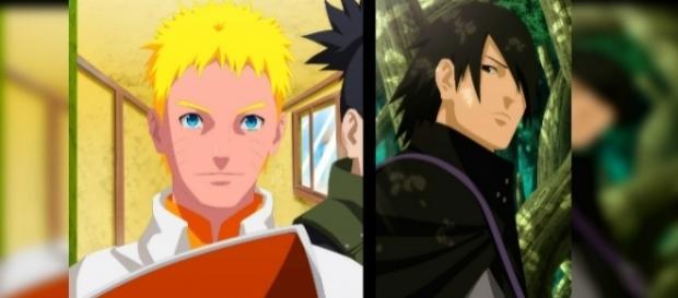"""""""FanArt"""" De Naruto y Sasuke en el final de la serie creador por """"YahikoDarkII""""."""
