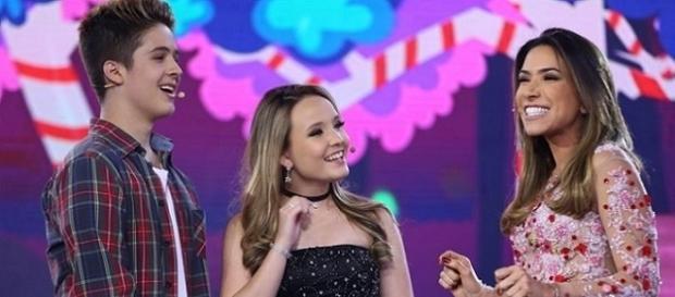 Larissa Manoela e João Gui no Máquina da Fama