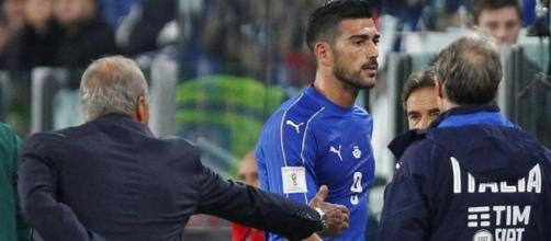 La mancata stretta di mano di Graziano Pellè a Giampiero Ventura durante Italia-Spagna.