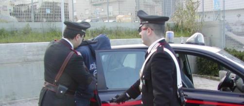 Arresto da parte dei carabinieri.