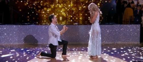 Sasha Farber proposed to Emma Slater during last night's episode of 'DWTS' on ABC. DWTS YouTube