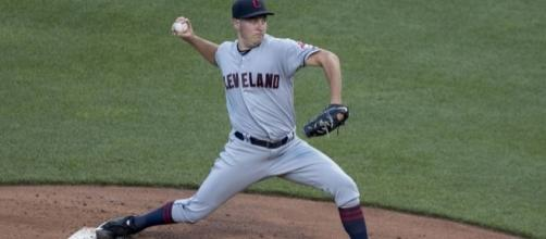 Trevor Bauer lasted just 21 pitches in his start nine days ago due to his injured pinky. Image:Flickr creative commons