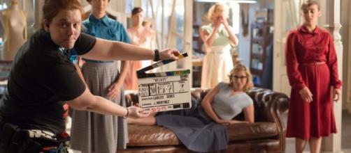 Un momento del rodaje de la última temporada de 'Velvet' que se estrena hoy en Antena 3 TV.