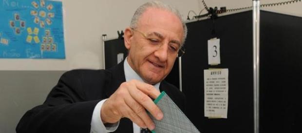 Il presidente della Regione Campania, Vincenzo De Luca