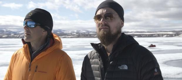 Leonardo DiCaprio in una scena del documentario - newscinema.it