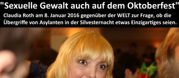 Peinlich für Claudia Roth: Sex-Täter von München waren wieder keine Deutschen.