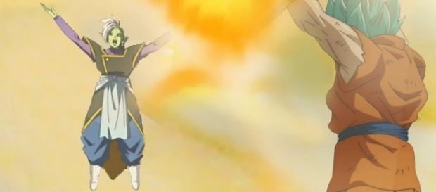 Zamasu toma el cuerpo de Goku.