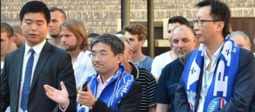 Il presidente e il vice presidente del Pavia Calcio, ufficialmente fallito