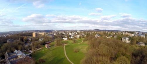 Vue aérienne prise par un appareil monté sur drone, par Sven Hanssen