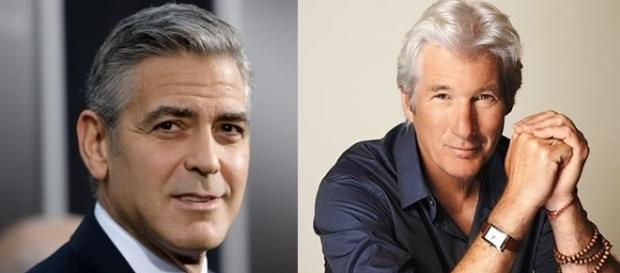 George Clooney (55 anos) e Richard Gere (67 anos).