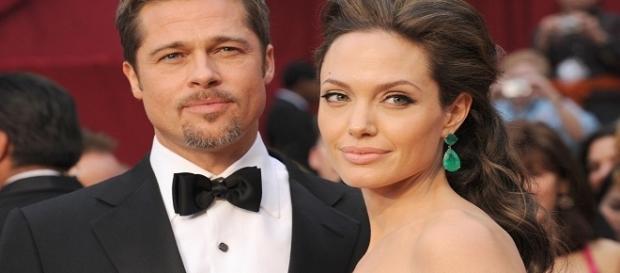 La foto di Angelina Jolie e Brad Pitt insieme ad un evento