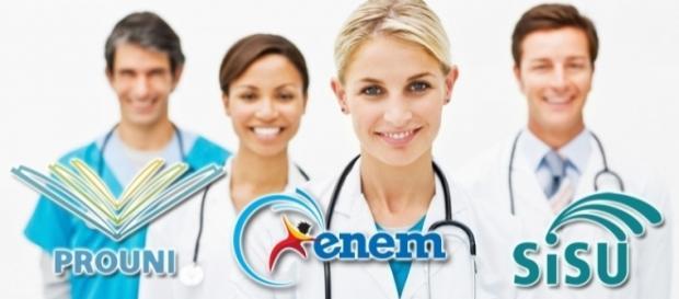 Medicina é o curso mais concorrido.