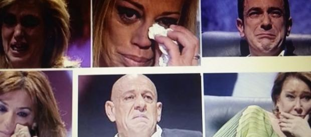Momentos de lágrimas de varios colaboradores de Sálvame durante el programa